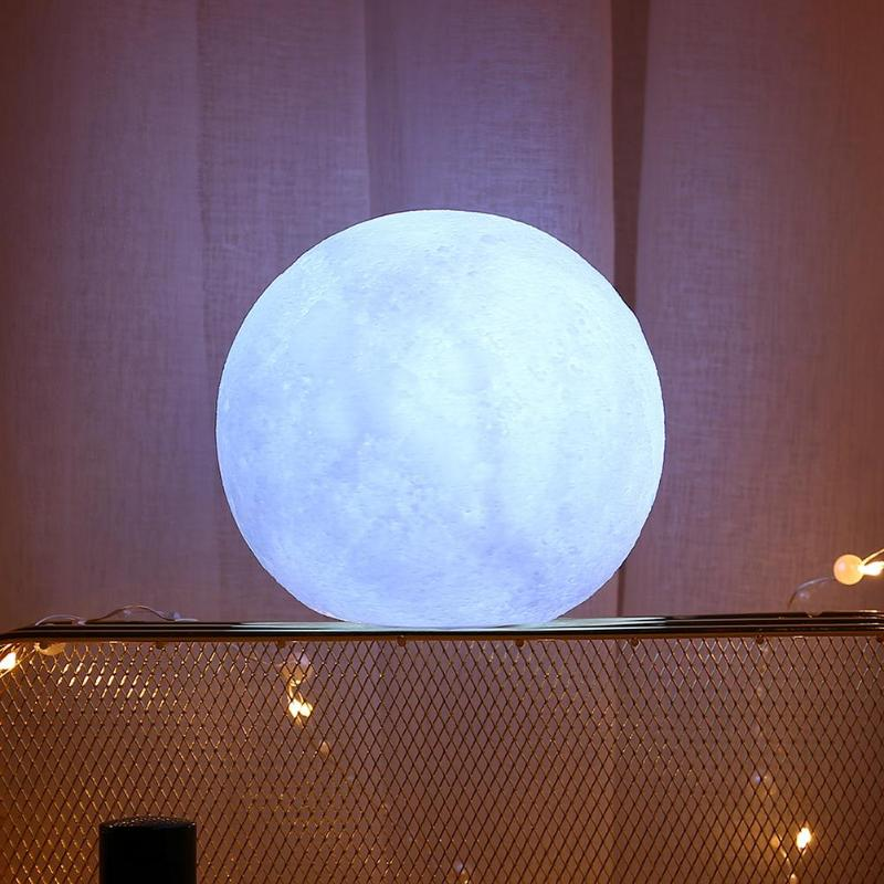 LED Night Light White Moon Shape Decor Lamp Creative Silicone Saving Nightlight For Home Desktop Bedroom Baby Layout Decor Light