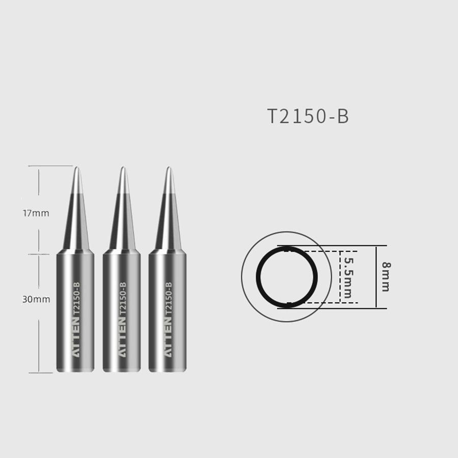 Original ATTEN Soldering Iron Tip Replacement Bit Head K B I 3C 5C 7C 3.2D 4.6D 6.5D Lead Free for ST-2150 ST-2150D 2