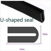 7mm x 3mm U Channel Black Edge Trim Rubber Car Truck Auto Camper Trailer RV Seal