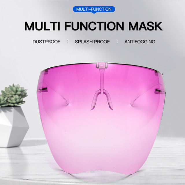 Clear plastic safety mask for the head