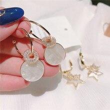 charm baroque Korean zircon micro-inlaid  cute earrings fashion jewelry christmas gothic women