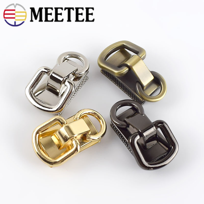 4/10pcs Meetee O D Ring Metal Buckles for Handbag Chain Bag Hanging Hook Hardware Bags Part Decoration Accessories