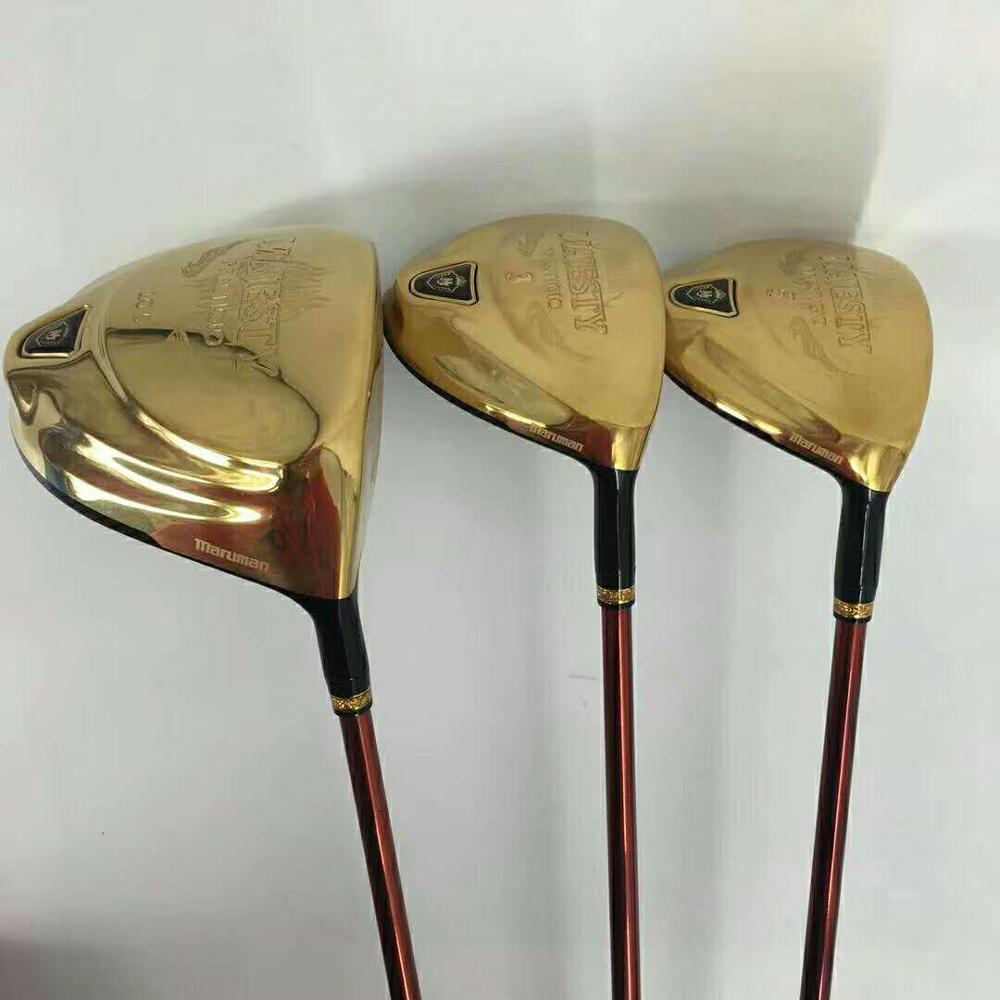 New Golf clubs set Maruman Majesty Prestigio 9 Golf Complete Set 9 5 or10 5 loft Graphite Golf shaft Free shipping 2