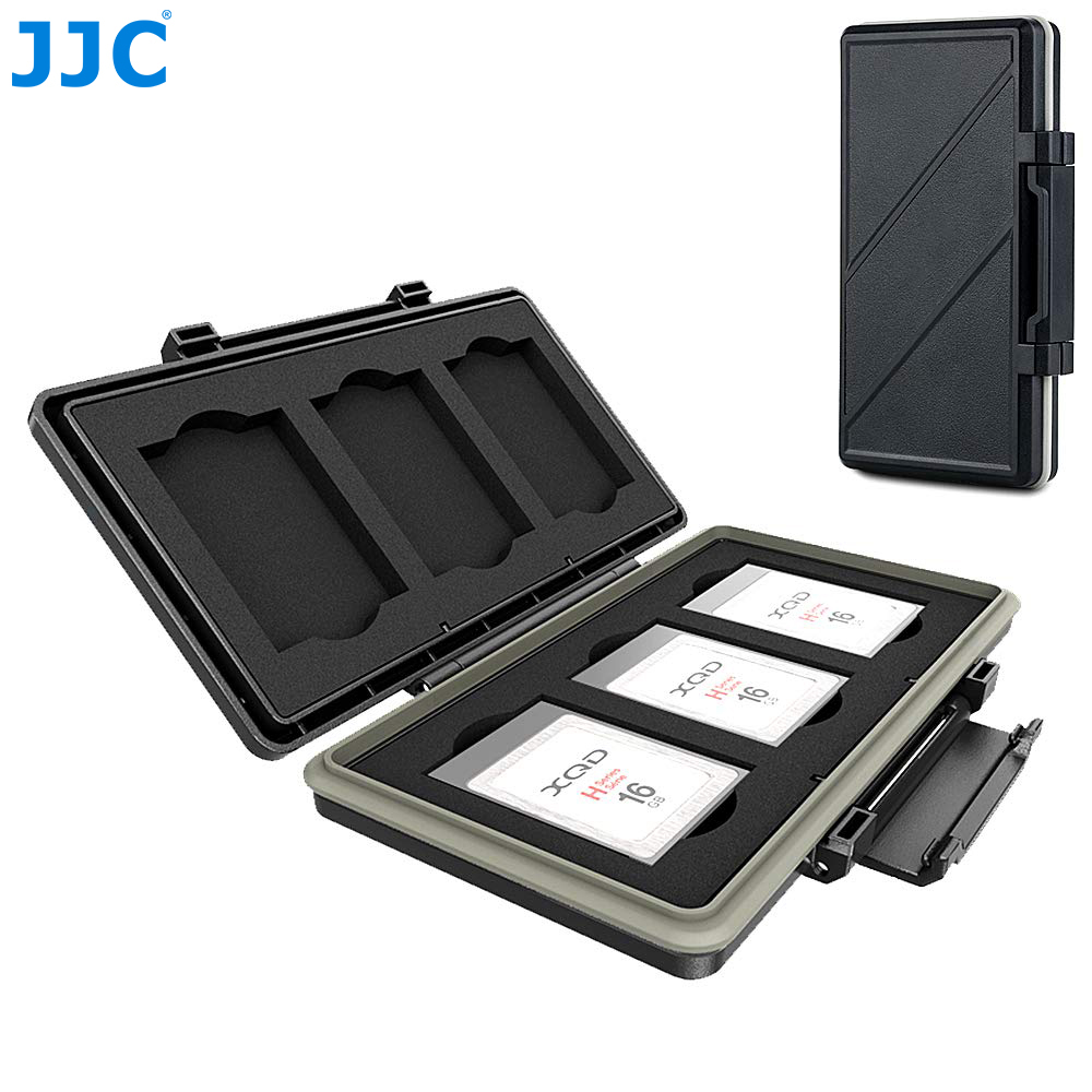 JJC 6 Slots XQD Card Holder Case Box XQD Memory Card Storage Protector For Nikon Z6 Z7 D850 D500 D5 D4S D4 Camera