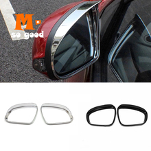 2pcs For Hyundai Kona 2017 2018 2019 ABS Chrome/Carbon Car Rear View Side Door Turning Mirror cover Trim Styling Accessories