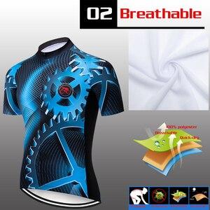 Image 4 - ฤดูร้อนใหม่Teleyiเกียร์ขี่จักรยานJerseyแขนสั้นชุดMaillot Ropa Ciclismo Uniformes Quick แห้งเสื้อผ้าMTB Cycleเสื้อผ้า