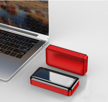 20000mah Power Bank Externe Batterie 18650 PoverBank 2 USB LED Power Typ c Tragbare handy Ladegerät für iPhone Xiaomi