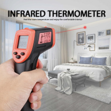 Digital Infrared Thermometer Non Contact Infrared Thermometer Pyrometer IR Laser Temperature Meter Gun  -50~600℃ smart sensor digital infrared thermometer 18 1350c 58 2282f ar872 ir laser point gun non contact infrared thermometer