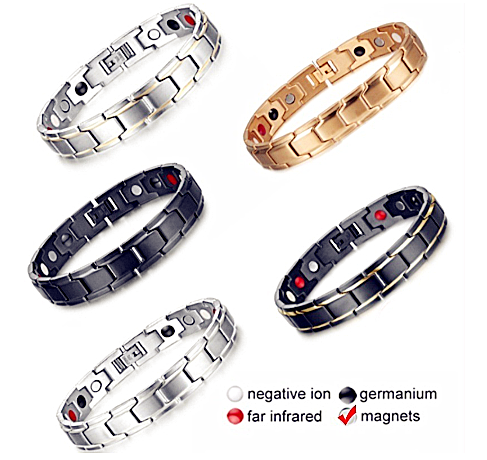 Health Care Twisted Healthy Magnetic Bracelet Power Therapy Women Men Magnetic Hematite Titanium Steel Bracelet Detachable