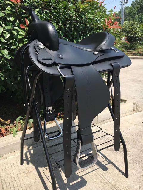 Genuine Leather Saddlery Horse Riding Saddle Integrated Saddle Cowboy Saddle Tourist Saddle Full Genuine Leather Comfortable 3