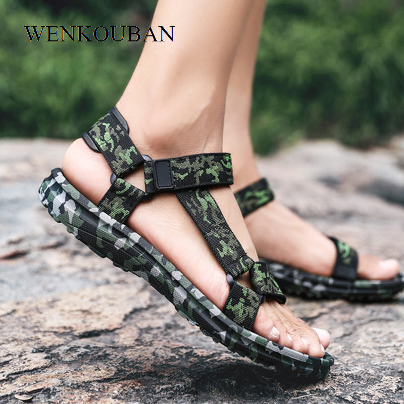 Summer Men Sandals Camouflage Slippers Men Beach Shoes Fashion Water Sandals Men Casual Flip Flops Flat Sandalia Masculina 2020