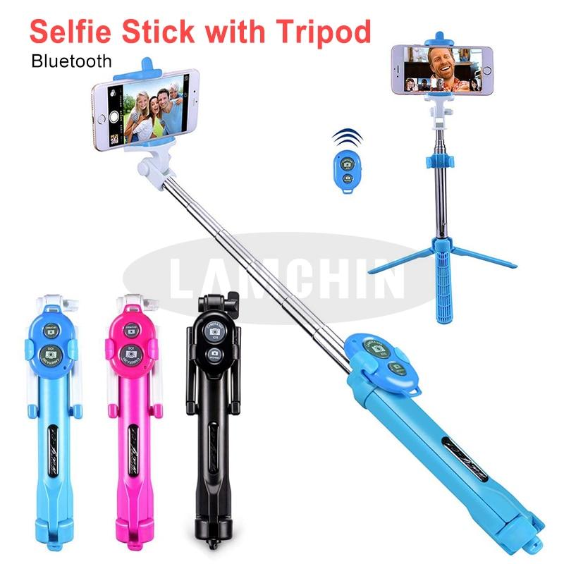 Remote Control Stick Tripod 3 IN 1 Mini Smartphone Monopod Wireless Bluetooth Portable Stick For Xiaomi Huawei