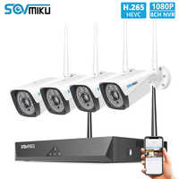8CH 1080P Drahtlose CCTV System 4 stücke 2MP Outdoor Wifi IP Kamera 8CH NVR Recorder Video Sicherheit Kamera System überwachung Kit