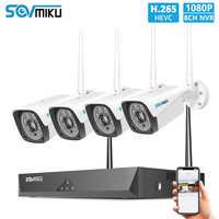8CH 1080P bezprzewodowy system cctv 4 sztuk 2MP zewnętrzne wifi kamera IP 8CH NVR rejestrator wideo system kamer bezpieczeństwa zestaw do nadzorowania