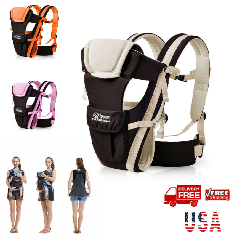 Newborn Infant Baby Breathable Ergonomic Baby Carrier Carrier Breathable Ergonomic Adjustable Wrap Sling Backpack