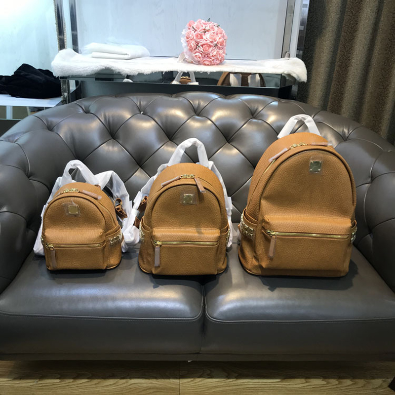 New Fashion Designer Korean Leisure Backpack Student Bag Rivet Bag Big Travel Bag For Men And Women