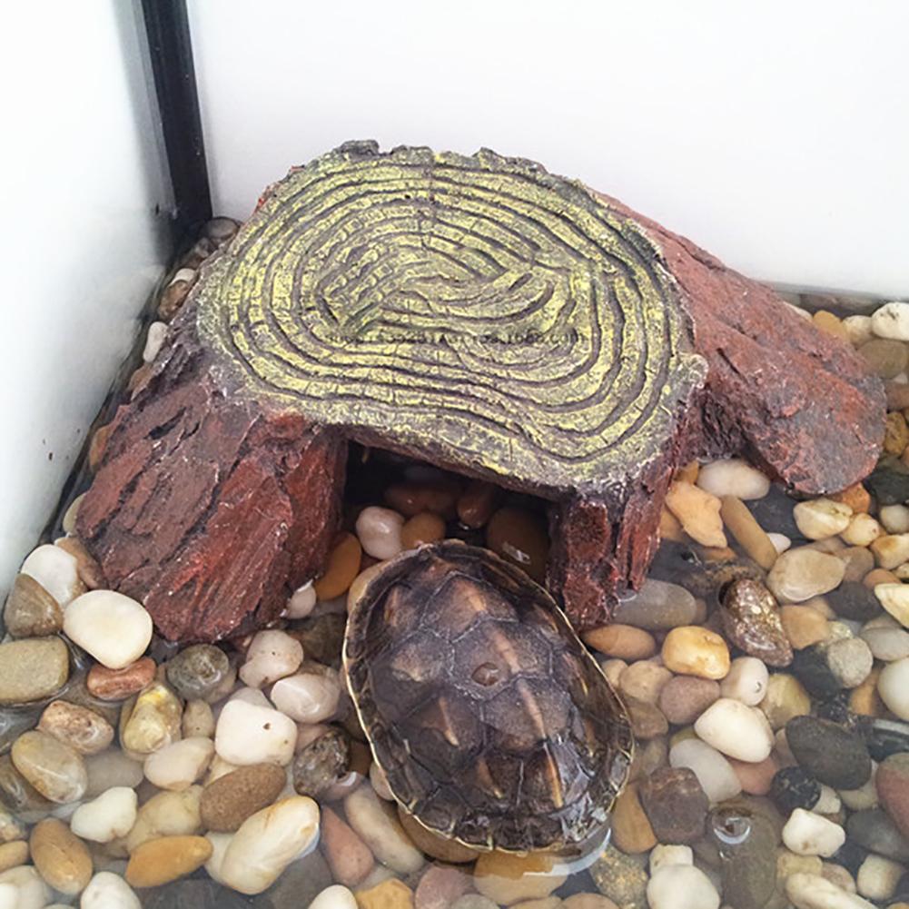 Aquarium Decoration Accessories Fish Tank Turtle Island Tortoise Resin Climbing Ornament Tortoise Balcony Reptile Hidden Cave