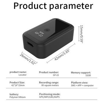 2021 New GF22 Car GPS Tracker Strong Magnetic Small Location Tracking Device 4