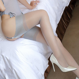 15D Bubble wide cuff sexy stockings transparent calze sexy lingerie thigh high stocking ladies medias de mujer