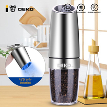 Pepper-Mill Salt Spice-Grinder Kitchen-Tool Led-Light Gravity-Induction Electric Stainless-Steel