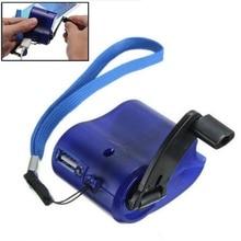 Аварийное зарядное устройство USB для телефона, 1 шт., для кемпинга, пеших прогулок, спорта на открытом воздухе, Ручное Зарядное устройство для...