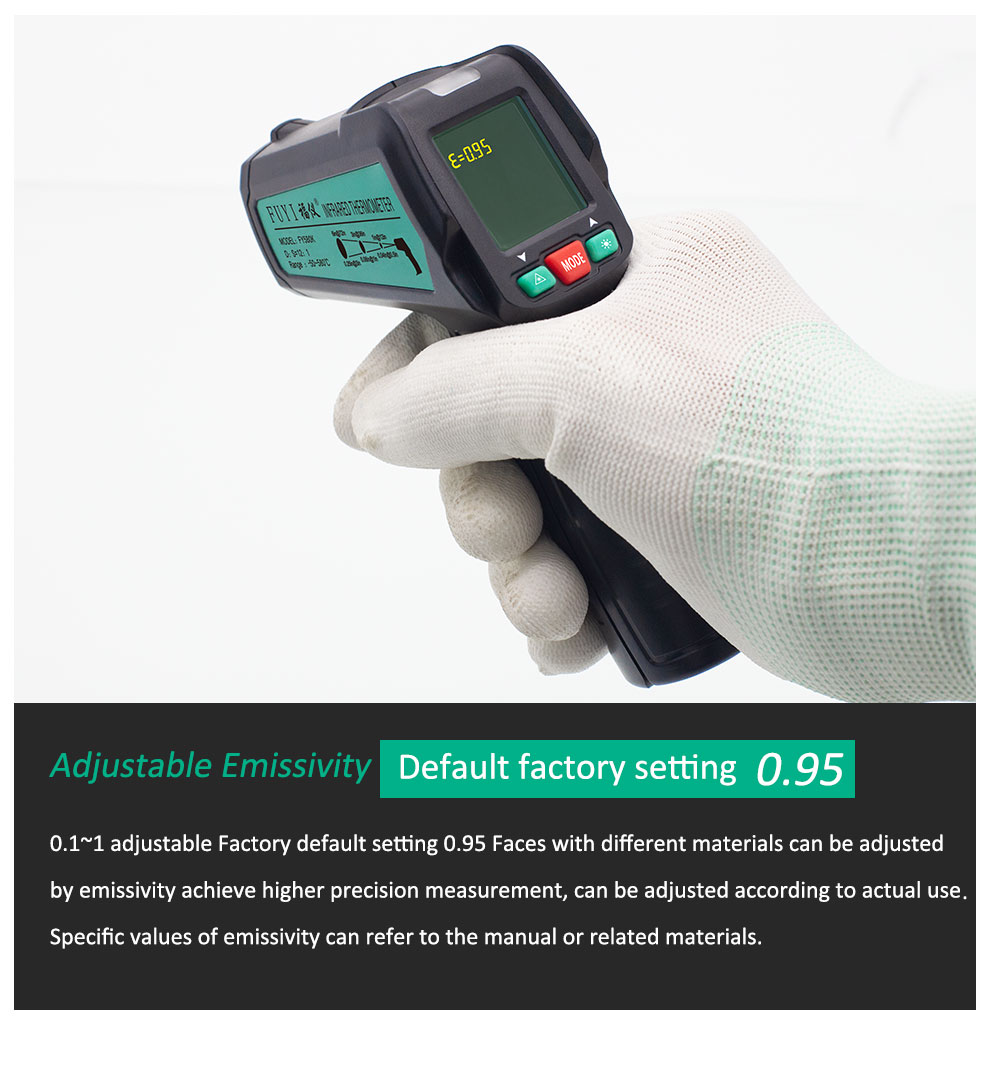 High Precision Non Contact Thermometer with K Probe and LCD Display to Check Body Temperature 18