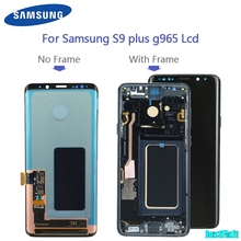 Replacement With Frame For Samsung S9 plus G965 965F s9 g960 g960f burn in shadow LCD Display Digitizer Touch Screen