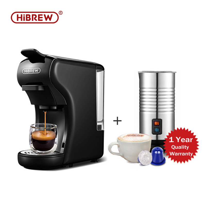 HiBREW Capsule Coffee Machine Full Automatic With Hot & Cold Milk Foaming Machine