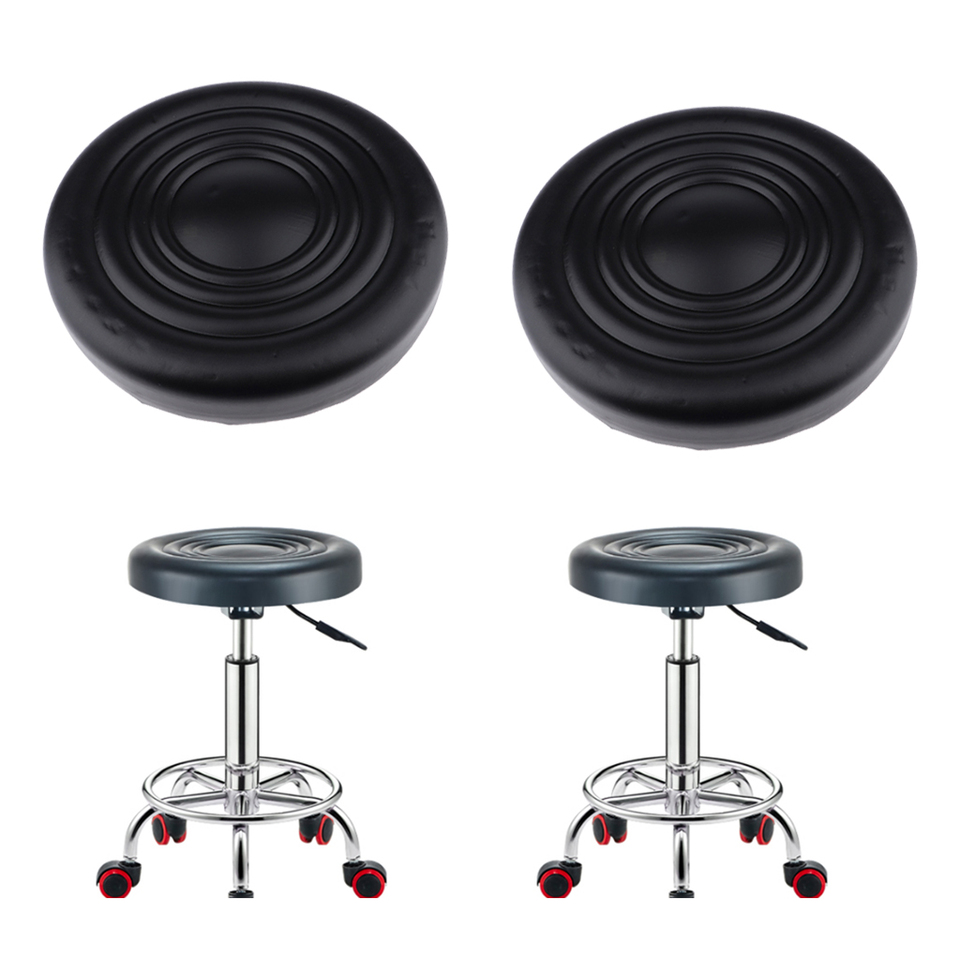 2pcs Stool Replacement Seat Cushion Pu Leather Round For Bar Kitchen Coffee Shop Salon Seat Cushion Barstools Aliexpress