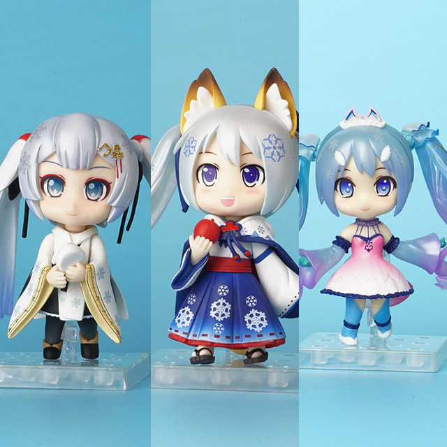 10CM Hatsune Anime Virtual Singer Q Version Special Snow Miku Action Figure Cute Toys PVC Model Dolls Birthday Gifts Collectible