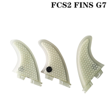 цена на 2019 New Up-FCSII G7 L Size Surfboard White color Honeycomb Fins Tri fin set FCS 2 Fin Hot Sell FCS II Fin Quilhas