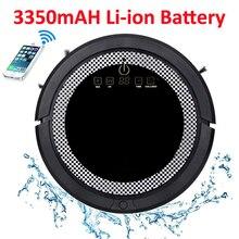 Роботизированный пылесос для дома QQ6 с баком для воды, дистанционным управлением, литий-ионная батарея 3350MAH