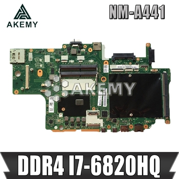 NM-A441 Laptop motherboard for Lenovo ThinkPad P70 original mainboard DDR4 I7-6820HQ