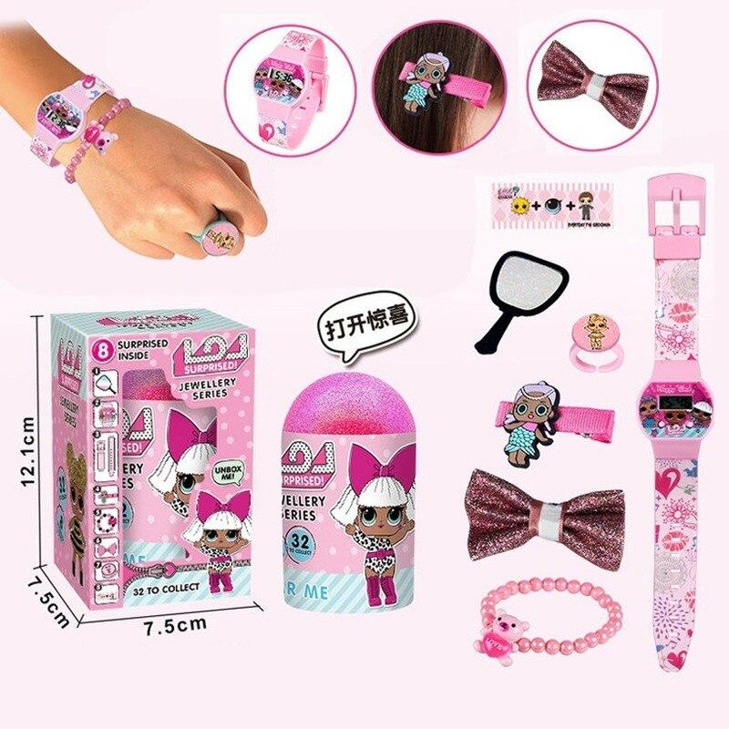 LOL Surprise Dolls Watch Hairpins, Bracelets, Mirrors, Watch Sets Surprise Set Girls Watches  Children Watch Presents For Kids