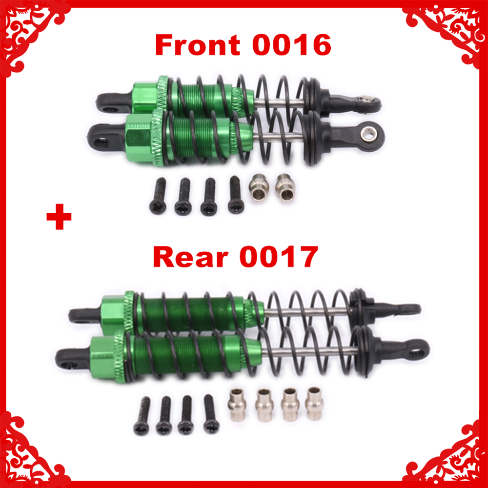 Aluminum Oil Filled Front&Rear Shock Absorber 0016 0017 For 1/12 WLtoy 12428 12423 RC Car Crawler Short Course Truck Upgrad Part