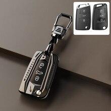 Funda protectora para llave de coche, accesorio para llavero con estilo para Volkswagen VW golf 7 gti mk7 r Touran Bora Caddy up