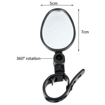 Rower lusterka wsteczne 360 stopni obrót lusterko wsteczne do roweru lusterka nadaje się do roweru szosowego i górskiego MTB tanie i dobre opinie bicycle mirror