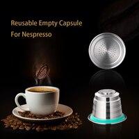 Nachfüllbare Upgrade Runde Loch Nespresso Edelstahl Leere Kapsel Metall Reusable Kaffee Filter Tasse Reusable Cafe Tropf