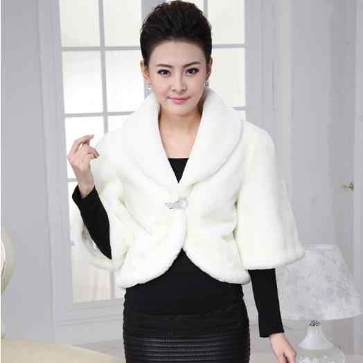 Fofo Mulheres faux fur Coats 2020 inverno curto gilet brasão da pele do falso poncho sexy desgaste das senhoras casacos jaqueta outwear Fofo Queda M563