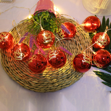 New Christmas ball led battery light string Star Snowflake holiday Garlands Fairy Light For Wedding Party Year s Decoration
