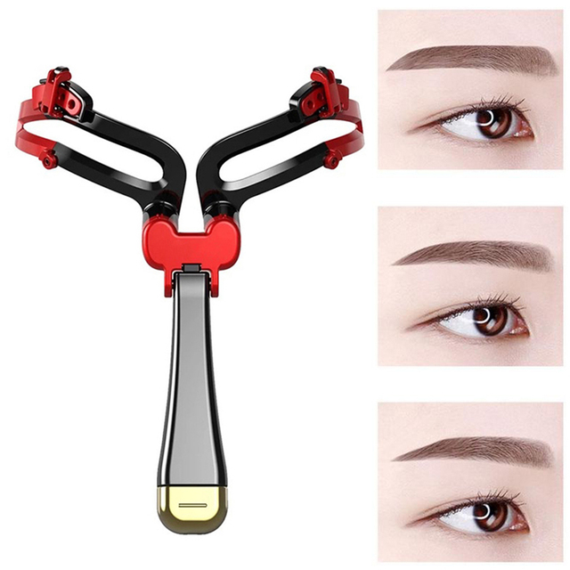 Adjustable Eyebrow Shaper Makeup Eyebrow Shapes Stencil DIY Eyebrow Template Eyebrow Ruler Makeup Shaping Position Measures Tool