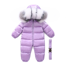 Toddler Coat Russian Waterproof Snowsuit Kids Winter Jacket Outerwear Duck-Down Girl