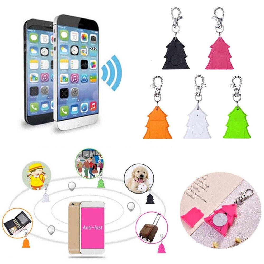 Mini Christmas Tree Anti-lost Keychain GSM GPRS GPS Tracker Locator Device Smart Tag Bluetooth Alarm Keychain Wireless Finder