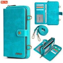 다기능 가죽 핸드백 카드 지갑 아이폰 12 미니 12 Pro max XS Max XR 7 8 6 6s 플러스 11 Pro 케이스