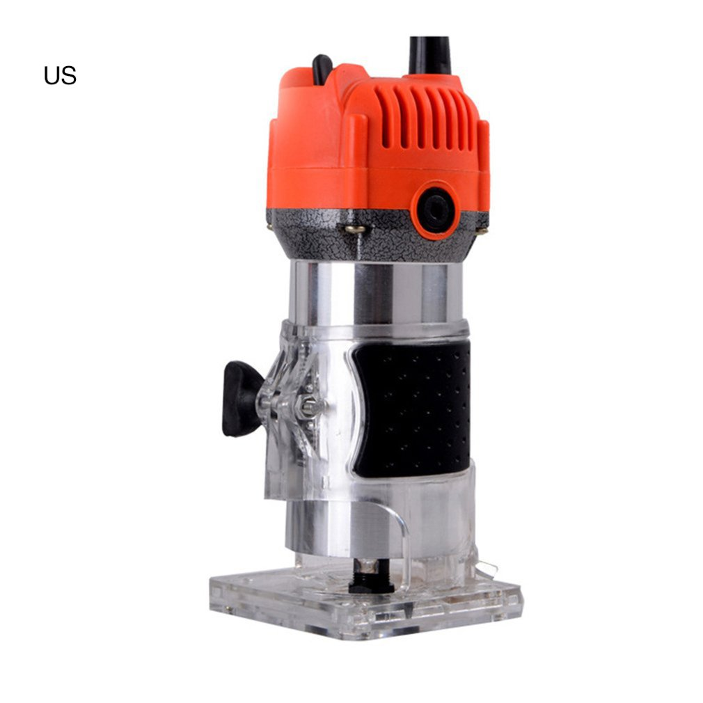 Trim Router Edge Wood Clean Cuts Power Woodworking Tool 33000RPM Trim Router Lathe Live Center Taper Tool