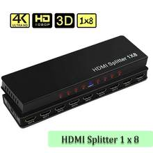 4K Hdmi Splitter Swithcer 1X8 1X4 1X2 1 In 8 Out Hdmi Distributeur 1080P Met Hdmi Kabel Voor Hdtv, dvd-speler, Projector, PS4, Pc(China)