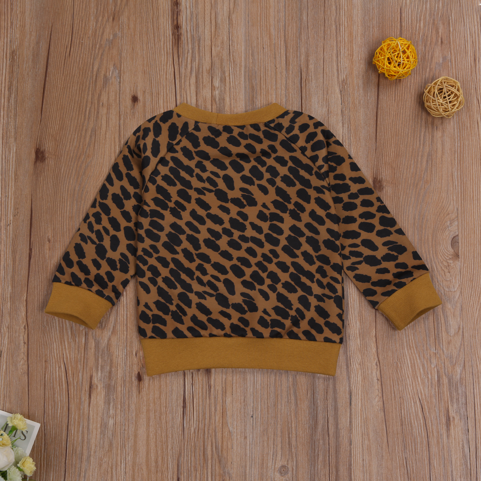 Ma&Baby 0-3Y Autumn Winter Toddler Baby Kid Girls Boys Leopard Sweatshirts Long Sleeve Letter MAMA'S MINI Casual Baby Clothes 6