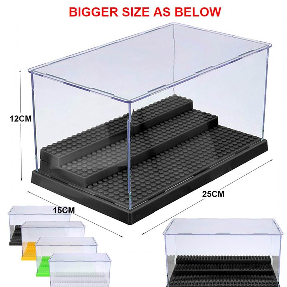 2020 Совместимость акриловые Пластик фигурки Дисплей Чехол Коробка пылезащитный Дисплей коробка строительные блоки loz Кирпичи Игрушки