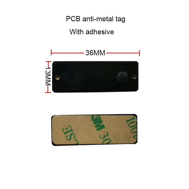 860-960MHz Rfid UHF An-ti Metal Tag 36*13MM Small Size Asset Management High Temperature FR4 PCB Anti Metal Tag