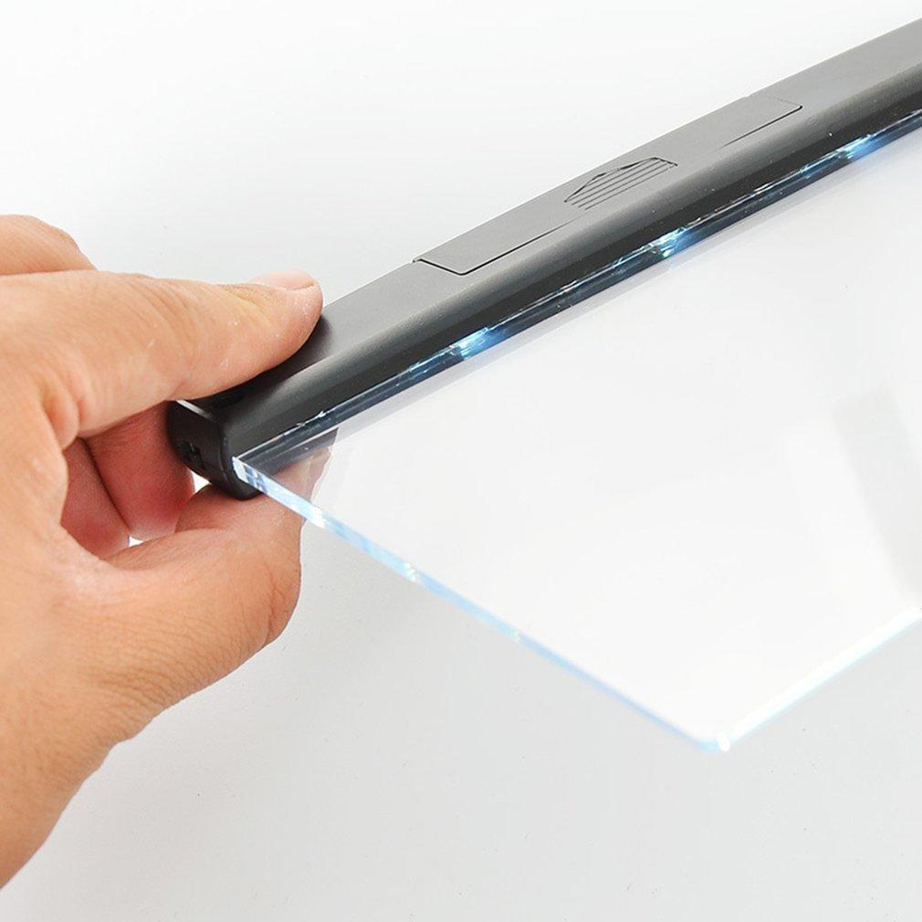 Portable Ultra-thin Flat Plate Panel Reading Light Students Night Vision Light Eye Protect Battery Plastic Book Light Lamp